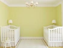 Interior av barnkammare. Fotografering för Bildbyråer
