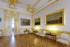 : Interior av den Catherine slotten Arkivbilder