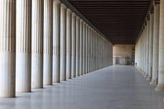Interior av den forntida marknadsplatsen Arkivbild