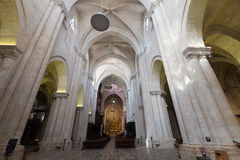 Interior av den gotiska domkyrkan Royaltyfria Foton