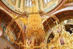 Interior av den kyrkliga frälsaren på spillt blod Royaltyfri Foto