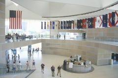 Interior av den nationella konstitutionmitten för US-konstitutionen på självständighetgallerien, Philadelphia, Pennsylvania Arkivfoton