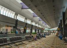Interior av den Singapore Changi flygplatsen royaltyfria foton