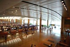 Interior av den Singapore Changi flygplatsen Fotografering för Bildbyråer