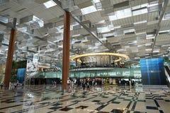 Interior av den Singapore Changi flygplatsen Royaltyfri Foto