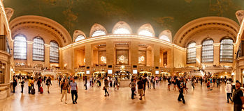 Interior av den storslagna centralstationen i New York City Arkivbilder