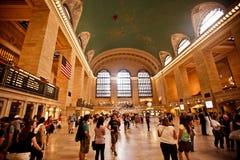 Interior av den storslagna centralstationen i New York City royaltyfria foton