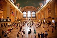 Interior av den storslagna centralstationen i New York City Arkivfoto