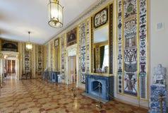Interior av den Stroganov slotten Arkivbilder