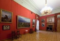 Interior av den Stroganov slotten Royaltyfria Foton