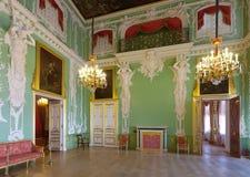 Interior av den Stroganov slotten Arkivbild