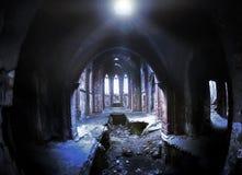Interior av det forntida slottet Royaltyfria Bilder