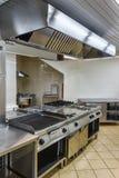 Interior av det industriella kök Arkivbilder