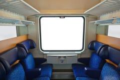 Interior av drevet och det blanka fönstret Royaltyfri Fotografi