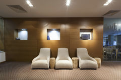 Interior av en hotelllobby Fotografering för Bildbyråer