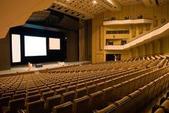 Interior av en konferens Hall Arkivfoton