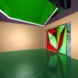Interior av en korridor av det stora kontoret. arkivfoto