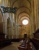Interior av en kyrka royaltyfria foton