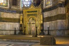 Interior av Hagia Sophia, Istanbul Royaltyfri Fotografi