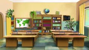 Interior av klassrumet Bekläda beskådar Arkivfoto