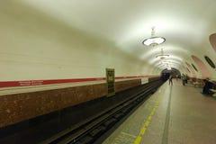 Interior av metrostationen Fotografering för Bildbyråer