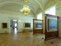 Interior av tillståndseremitboningen. St Petersburg arkivfoton