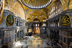 Interior of Aya Sophia - ancient Byzantine basilica Royalty Free Stock Image
