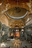 Interior of Aya Sophia, Istanbul Royalty Free Stock Image