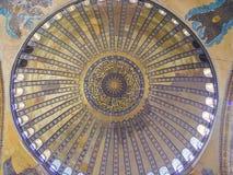 Interior of Aya Sophia in Istanbul, Turkey. Istanbul, Turkey - sept 3, 2011: Interior of Aya Sophia in Istanbul, Turkey. Hagia Sophia was an Orthodox basilica Royalty Free Stock Photo