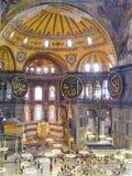 Interior of Aya Sophia in Istanbul, Turkey. Istanbul, Turkey - sept 3, 2011: Interior of Aya Sophia in Istanbul, Turkey. Hagia Sophia was an Orthodox basilica Royalty Free Stock Image