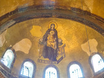 Interior of Aya Sophia in Istanbul, Turkey Stock Photos