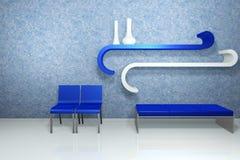 Interior azul stock de ilustración
