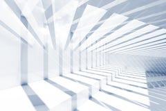 Interior azul abstracto, fondo 3d del CG Fotografía de archivo libre de regalías