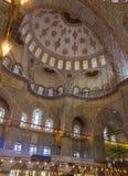 Interior azul de la mezquita Fotos de archivo