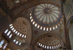 Interior azul de la mezquita Imagen de archivo