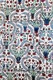 Interior azul de la mezquita de Sultanahmet - tejas Fotos de archivo