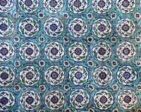 Interior azul de la mezquita de Sultanahmet - tejas Imagen de archivo