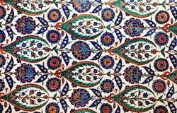 Interior azul de la mezquita de Sultanahmet - tejas Imágenes de archivo libres de regalías