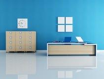 Interior azul do escritório ilustração do vetor