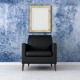 Interior azul do grunge Fotografia de Stock Royalty Free