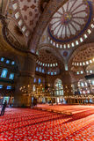 Interior azul do mosquee Fotografia de Stock