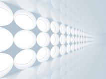 Interior azul do sumário 3d com decoração redonda Imagem de Stock Royalty Free