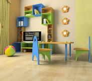 Interior of the baby. Room with furniture stock images