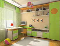 Interior of the baby office Royalty Free Stock Image