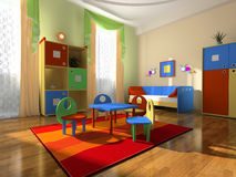 Interior of the baby room. With furniture royalty free stock images