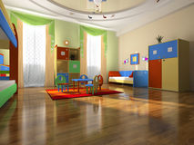 Interior of the baby room royalty free illustration