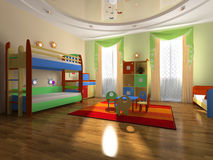 Interior of the baby room Stock Photography