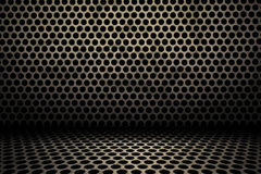 Interior background of circle mesh pattern texture Royalty Free Stock Photography