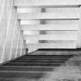 Interior background with concrete stairs on wall 3d Stock Image
