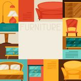 Interior background with furniture in retro style Royalty Free Stock Photography